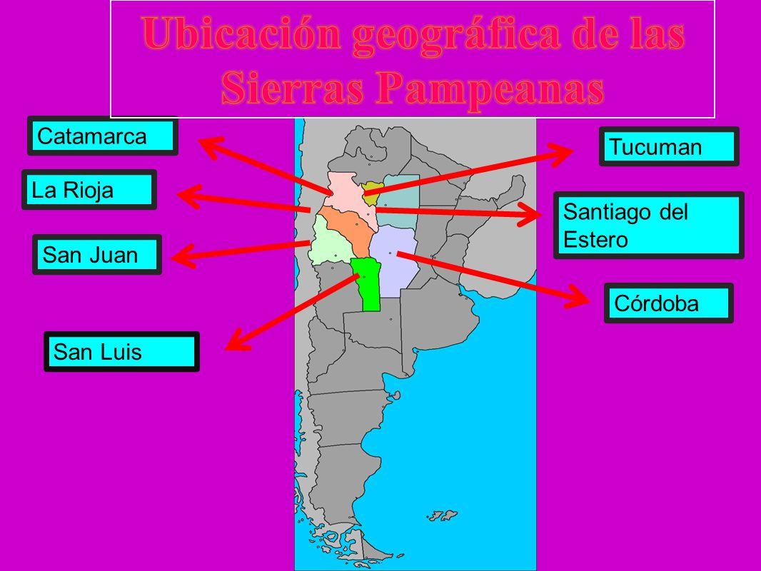 Ubicación geográfica de las Sierras Pampeanas