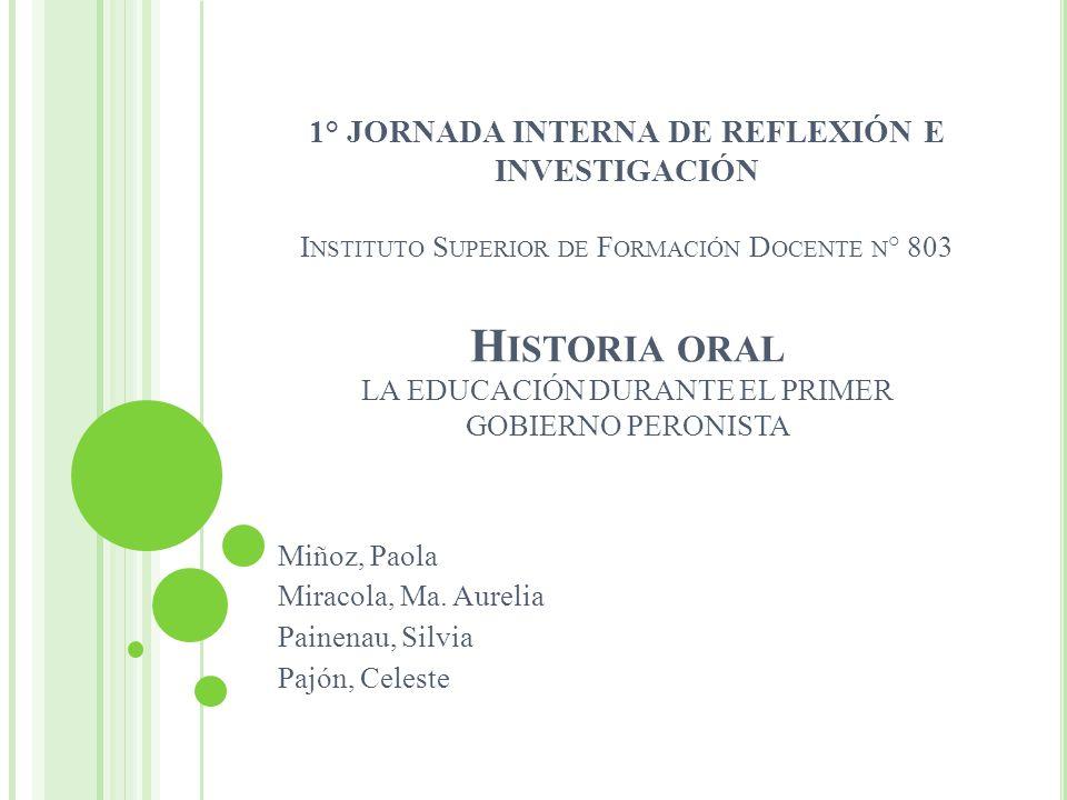 Miñoz, Paola Miracola, Ma. Aurelia Painenau, Silvia Pajón, Celeste