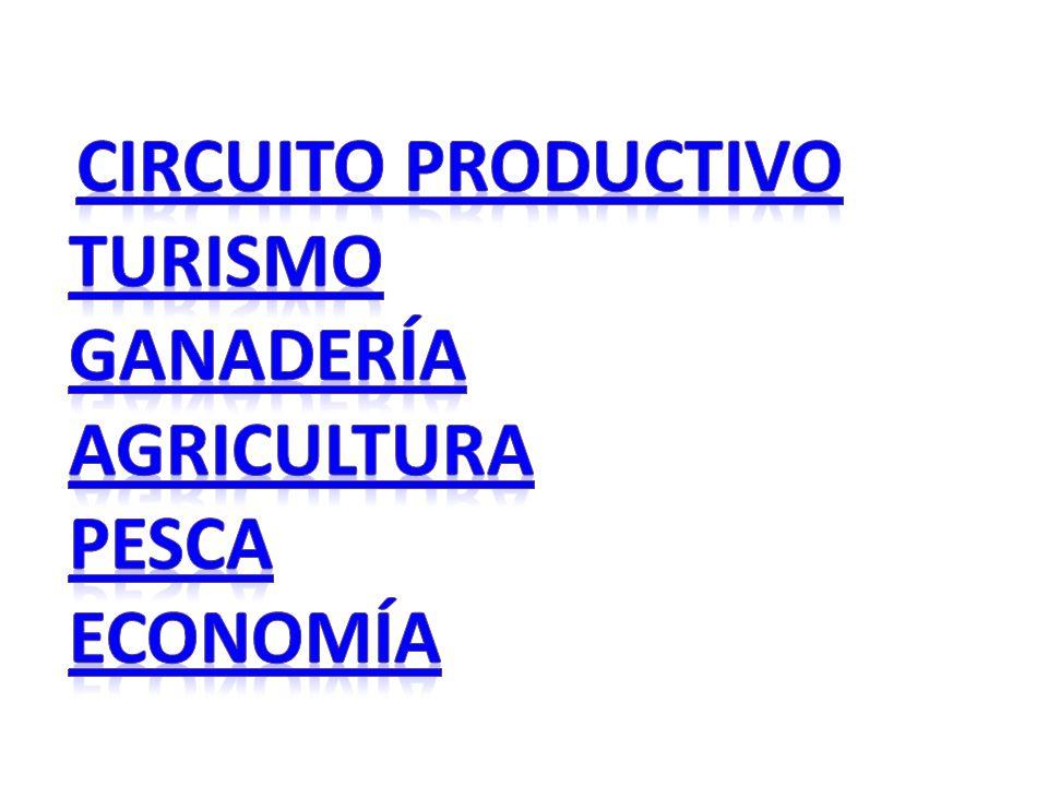 Circuito productivo Turismo Ganadería Agricultura Pesca Economía