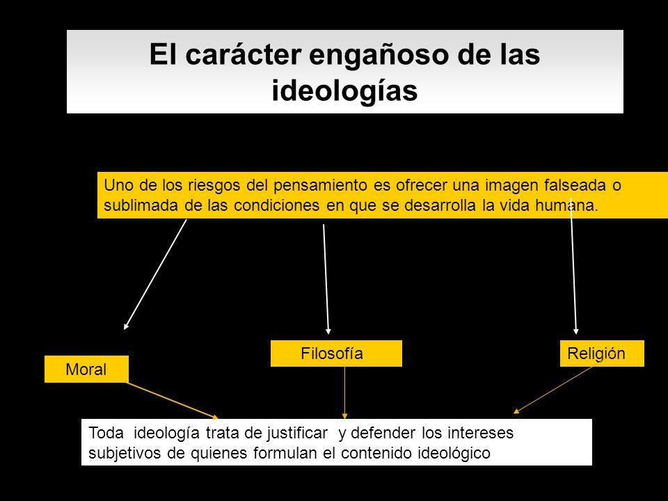 El carácter engañoso de las ideologías