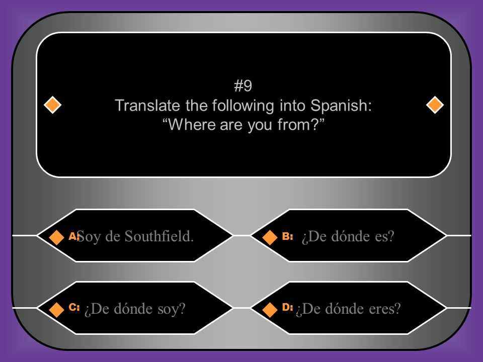 Translate the following into Spanish: