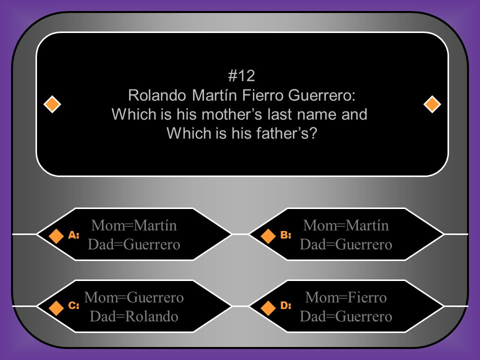 Rolando Martín Fierro Guerrero: Which is his mother's last name and