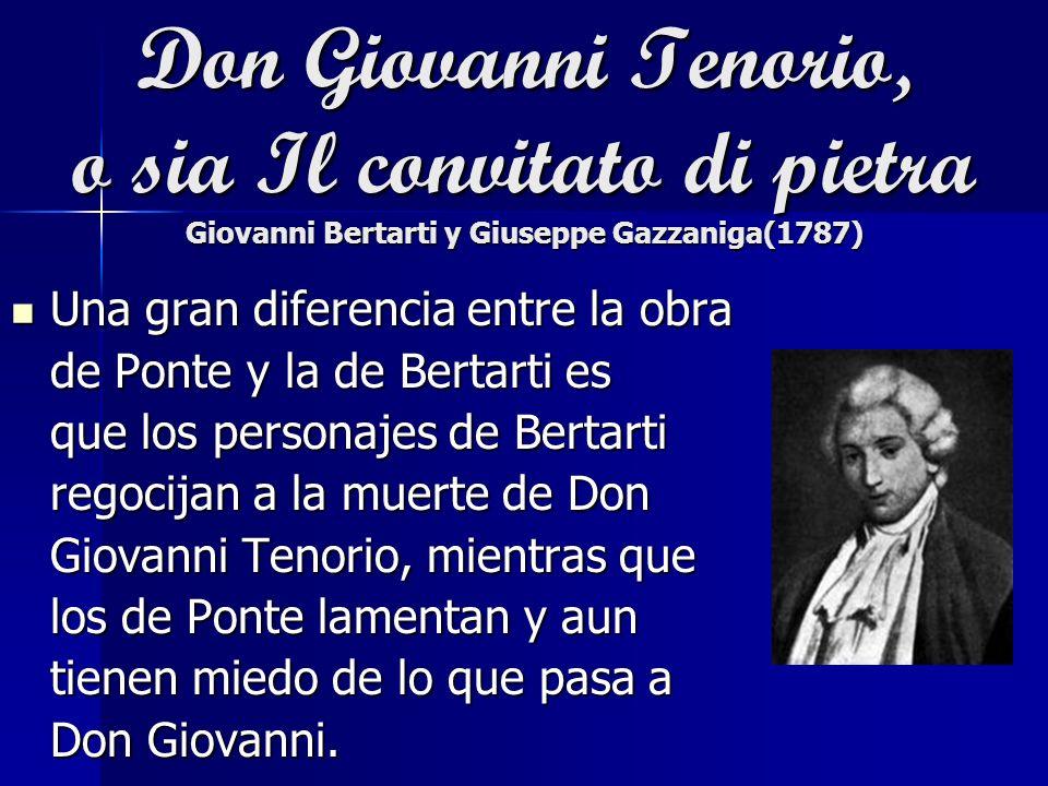 Don Giovanni Tenorio, o sia Il convitato di pietra Giovanni Bertarti y Giuseppe Gazzaniga(1787)