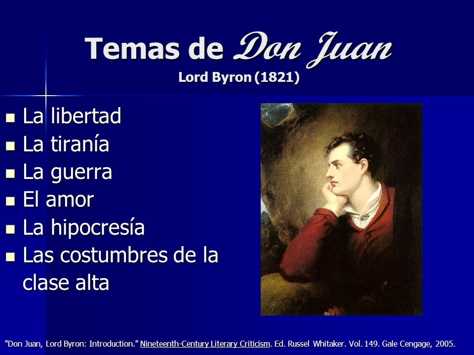 Temas de Don Juan Lord Byron (1821)