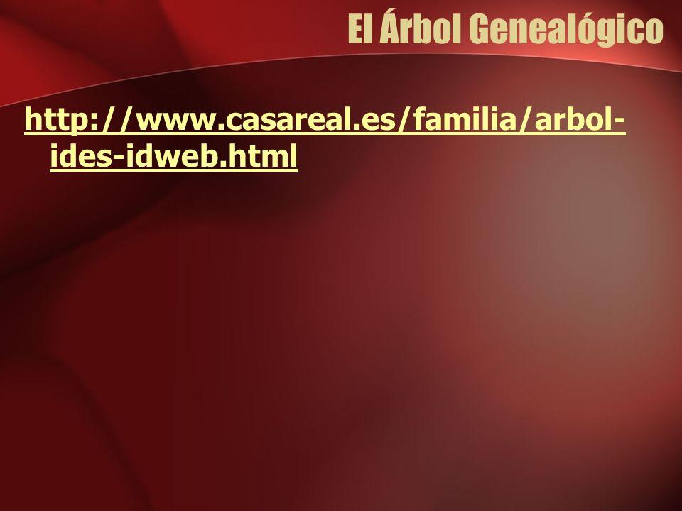 El Árbol Genealógico http://www.casareal.es/familia/arbol-ides-idweb.html