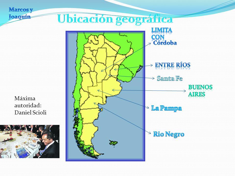 Ubicación geográfica Santa Fe La Pampa Rio Negro Marcos y Joaquín