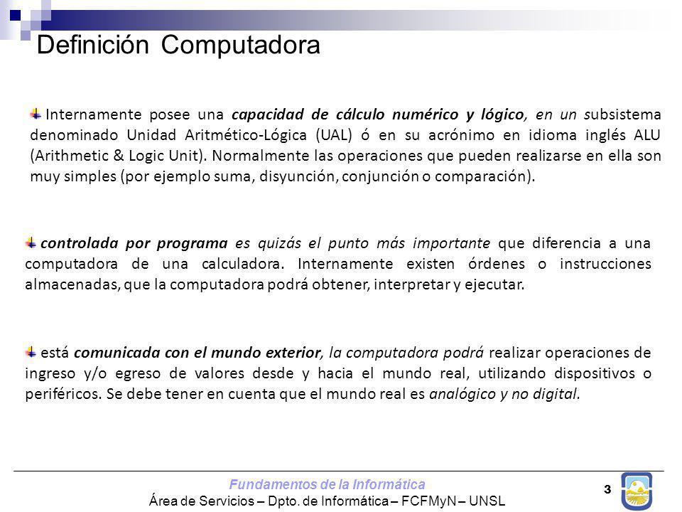 Definición Computadora