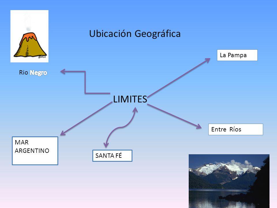 Ubicación Geográfica LIMITES La Pampa Rio Negro Entre Ríos