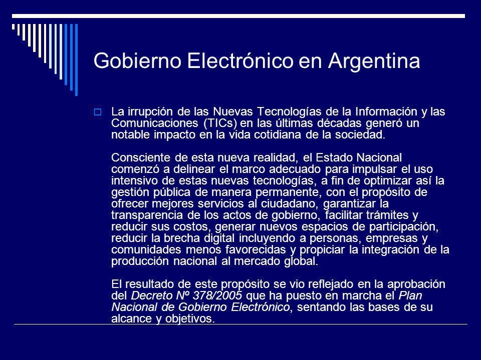 Gobierno Electrónico en Argentina