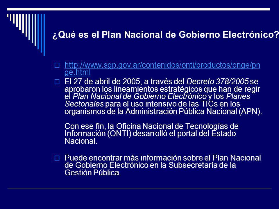 ¿Qué es el Plan Nacional de Gobierno Electrónico