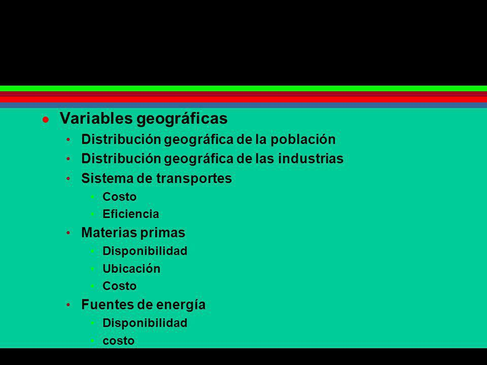 Variables geográficas