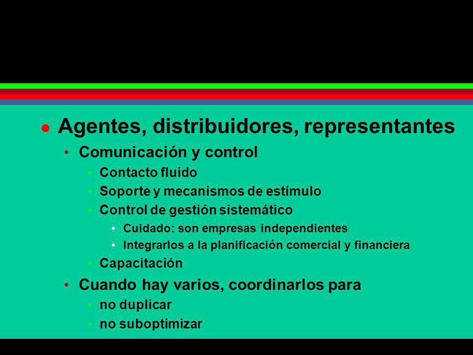 Agentes, distribuidores, representantes