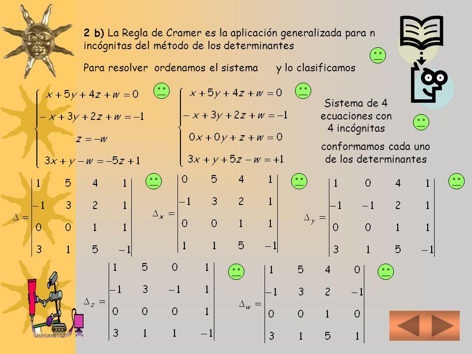 Sistema de 4 ecuaciones con 4 incógnitas