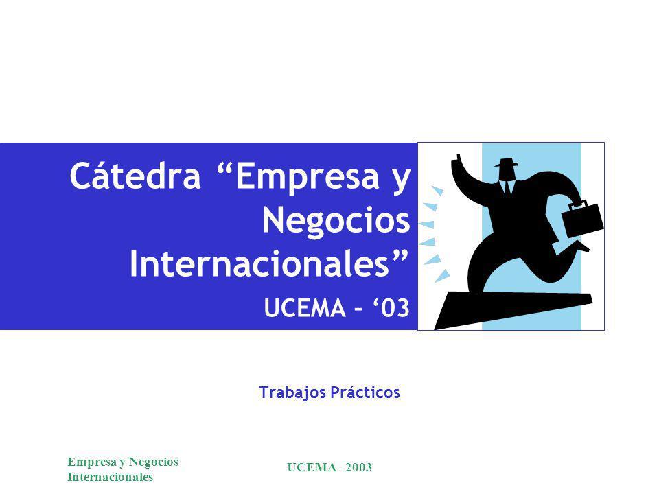 Cátedra Empresa y Negocios Internacionales UCEMA – '03