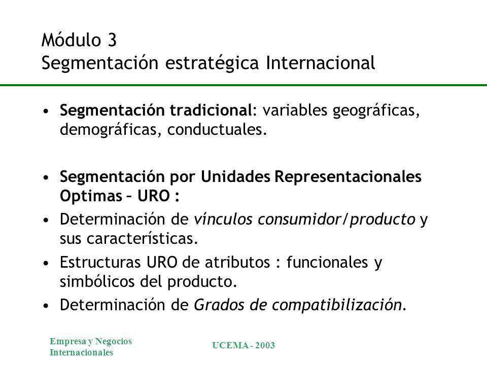 Módulo 3 Segmentación estratégica Internacional