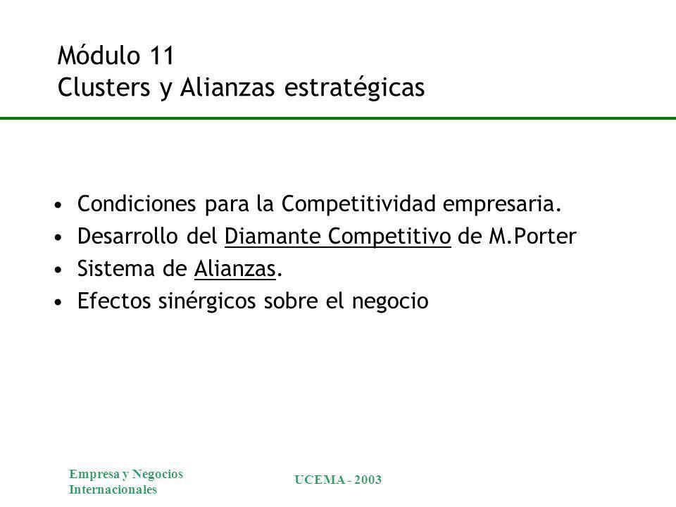 Módulo 11 Clusters y Alianzas estratégicas
