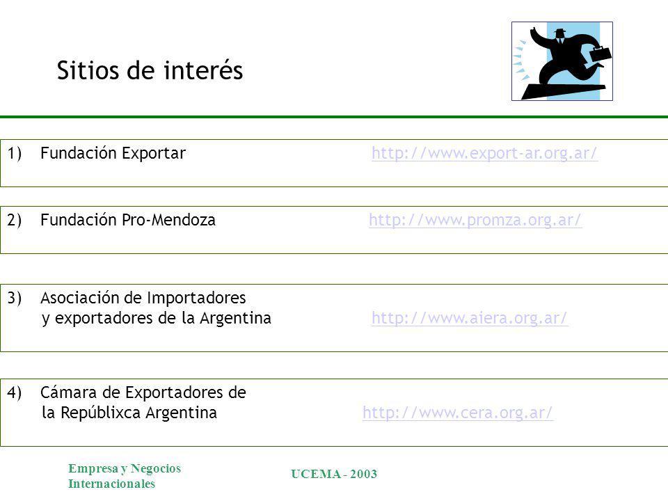 Sitios de interés Fundación Exportar http://www.export-ar.org.ar/