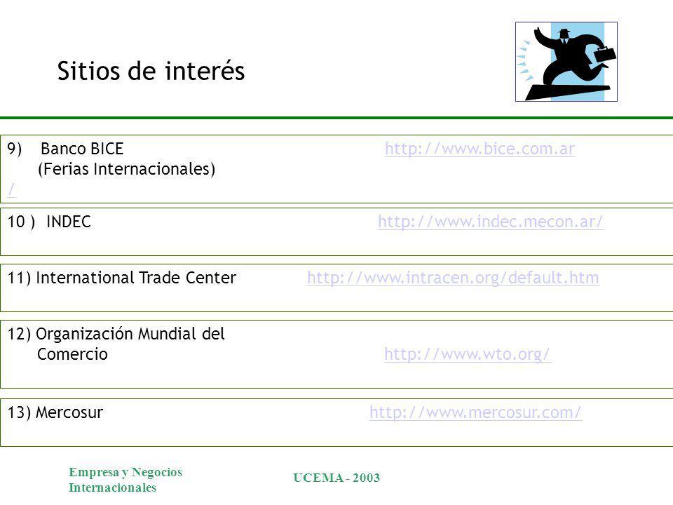 Sitios de interés Banco BICE http://www.bice.com.ar