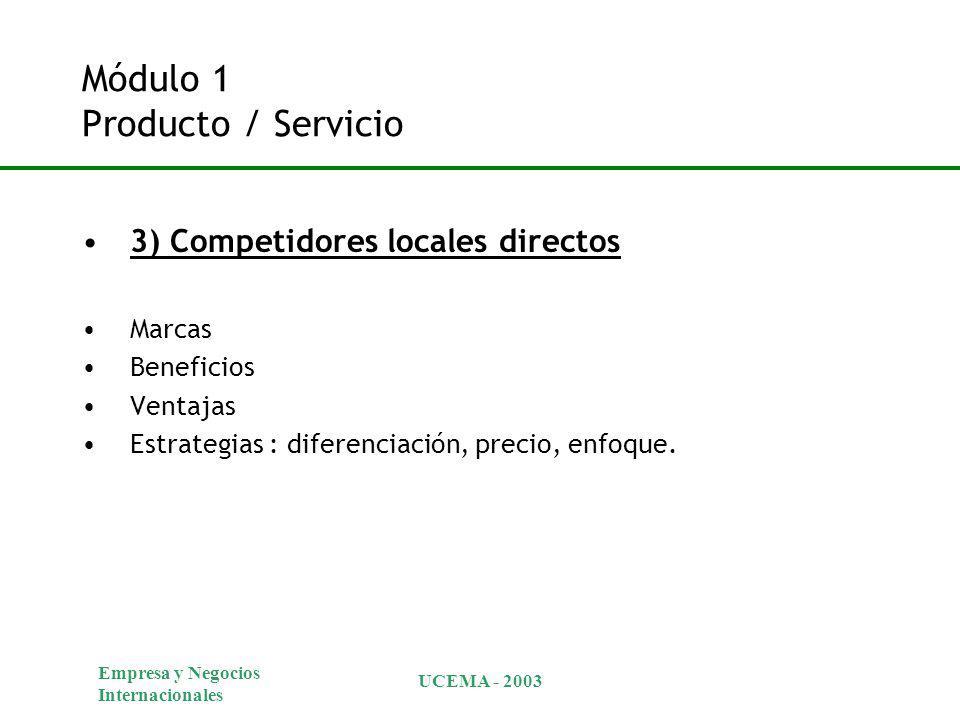 Módulo 1 Producto / Servicio