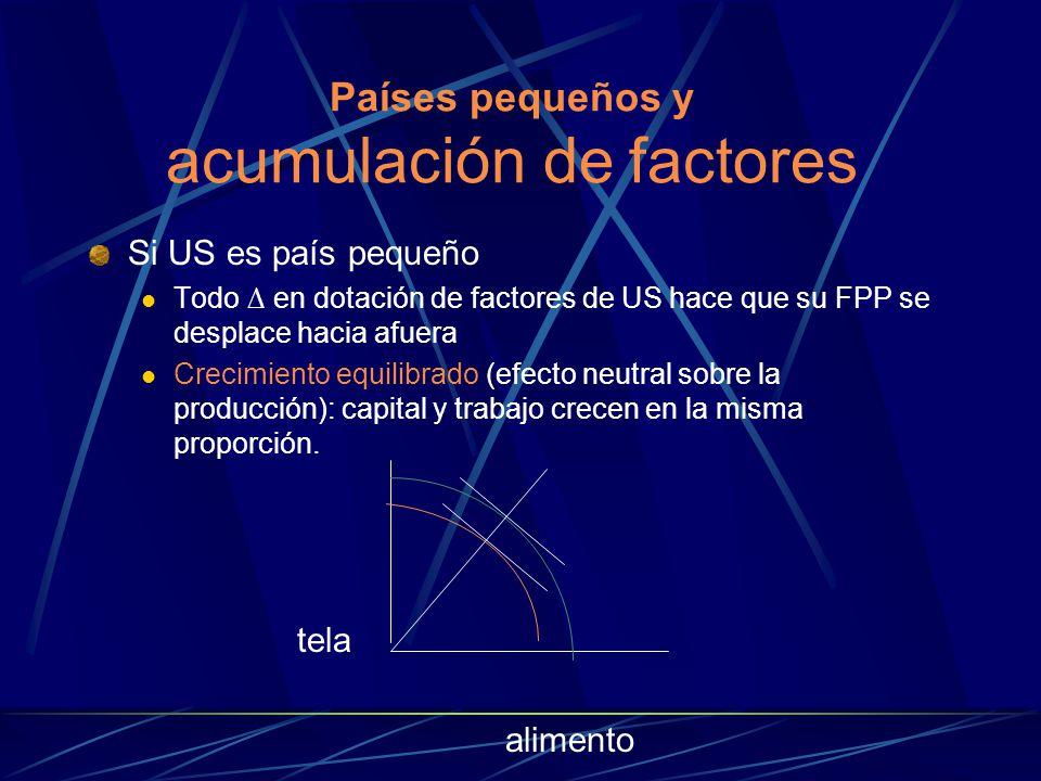 Países pequeños y acumulación de factores