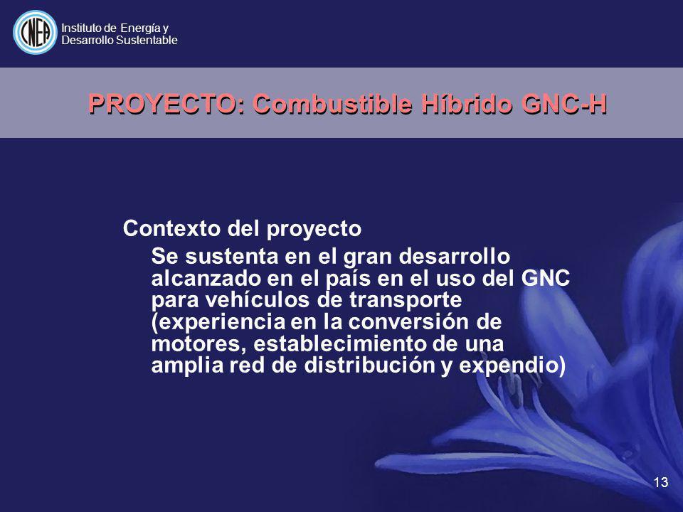 PROYECTO: Combustible Híbrido GNC-H