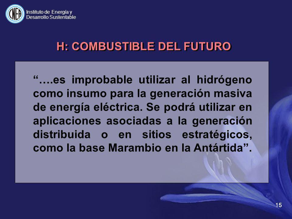 H: COMBUSTIBLE DEL FUTURO