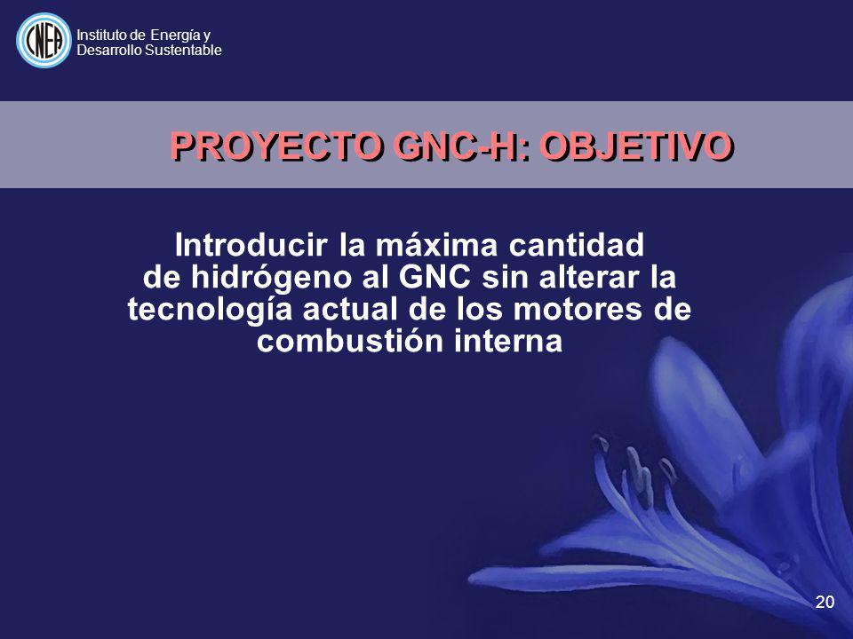 PROYECTO GNC-H: OBJETIVO