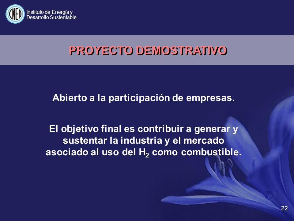 PROYECTO DEMOSTRATIVO Abierto a la participación de empresas.