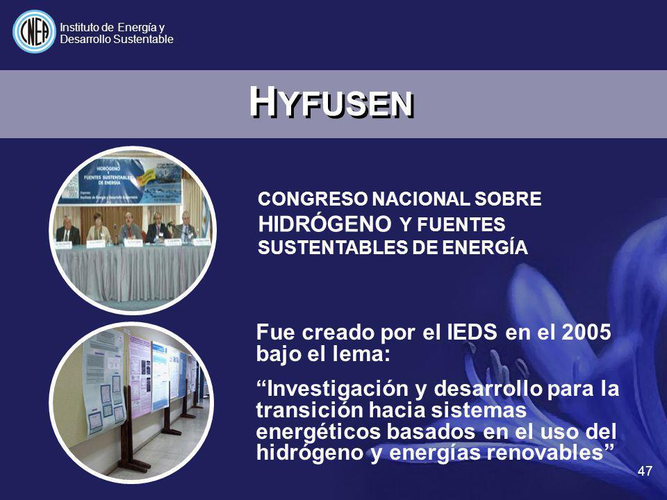 HYFUSEN Fue creado por el IEDS en el 2005 bajo el lema: