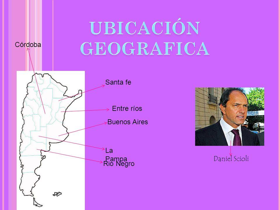 UBICACIÓN GEOGRAFICA Córdoba Santa fe Entre ríos Buenos Aires La Pampa