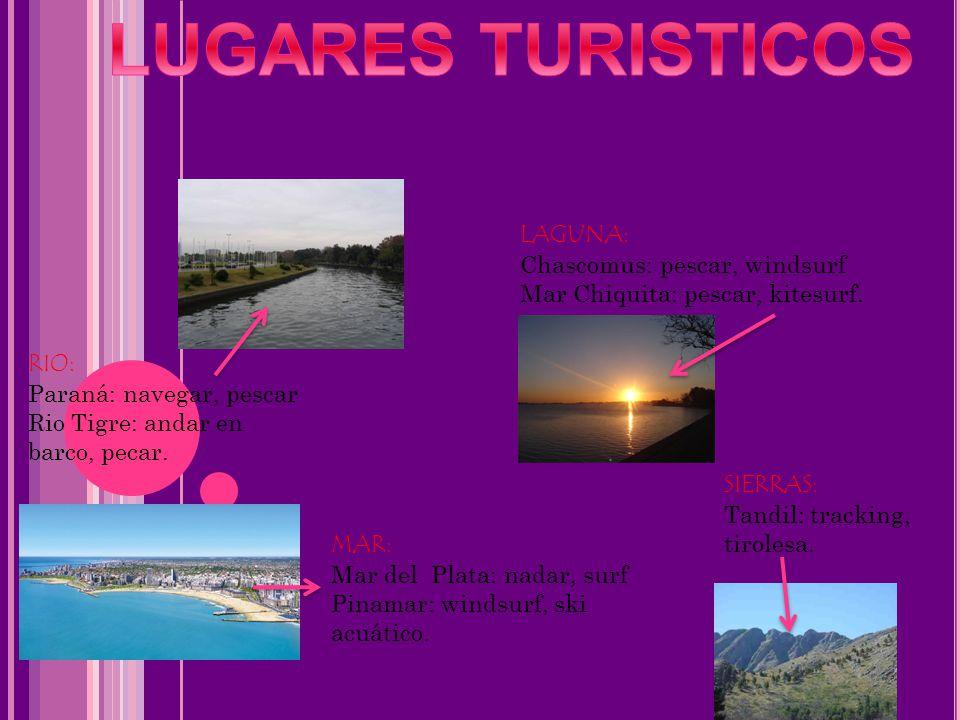 LUGARES TURISTICOS LAGUNA: Chascomus: pescar, windsurf