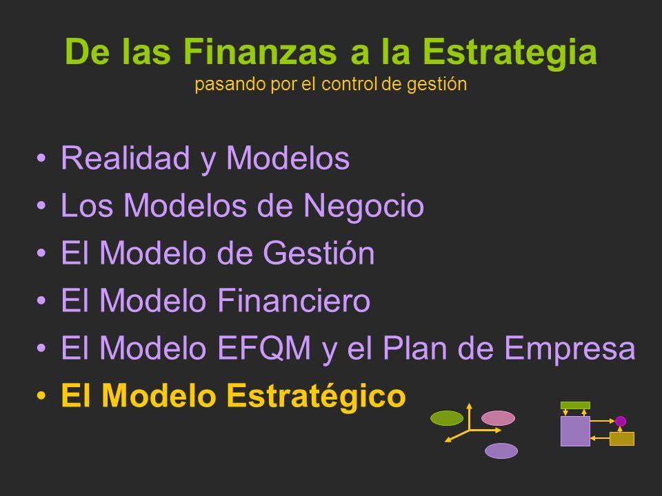 De las Finanzas a la Estrategia pasando por el control de gestión