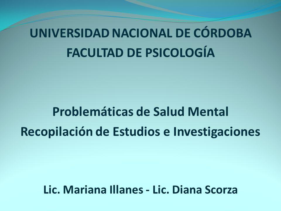 UNIVERSIDAD NACIONAL DE CÓRDOBA FACULTAD DE PSICOLOGÍA