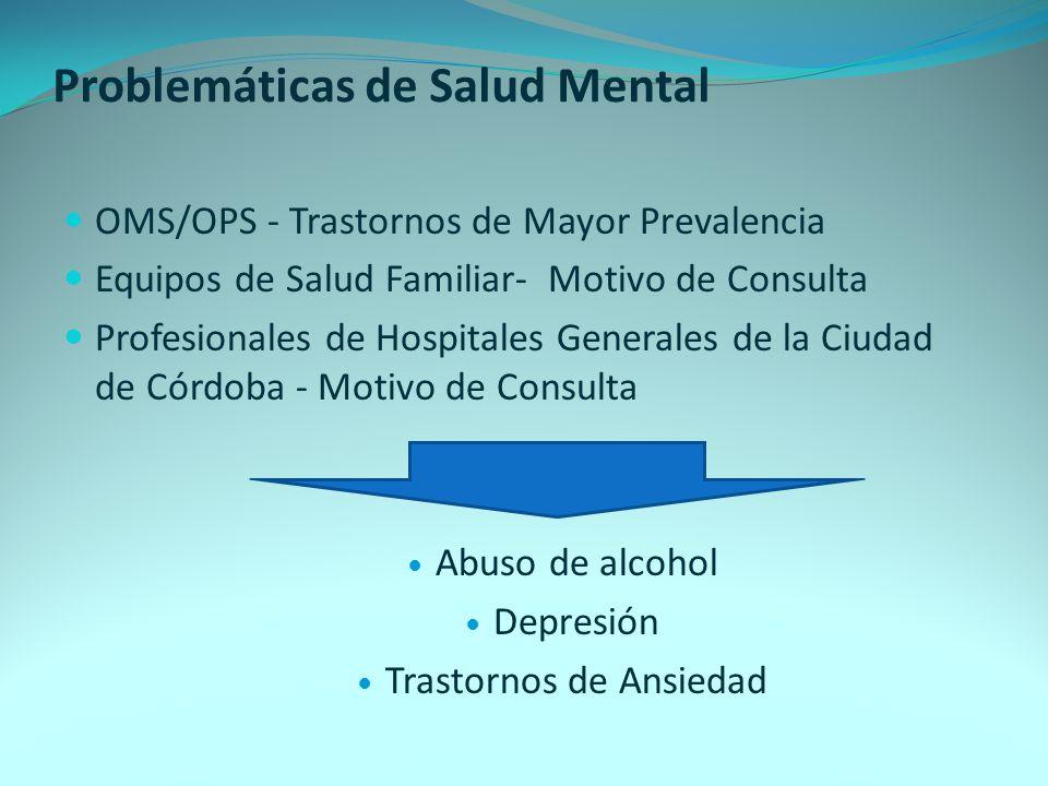 Problemáticas de Salud Mental
