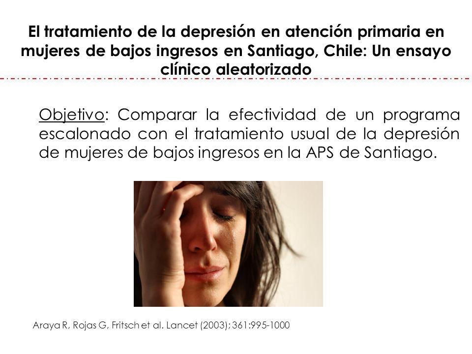 El tratamiento de la depresión en atención primaria en mujeres de bajos ingresos en Santiago, Chile: Un ensayo clínico aleatorizado
