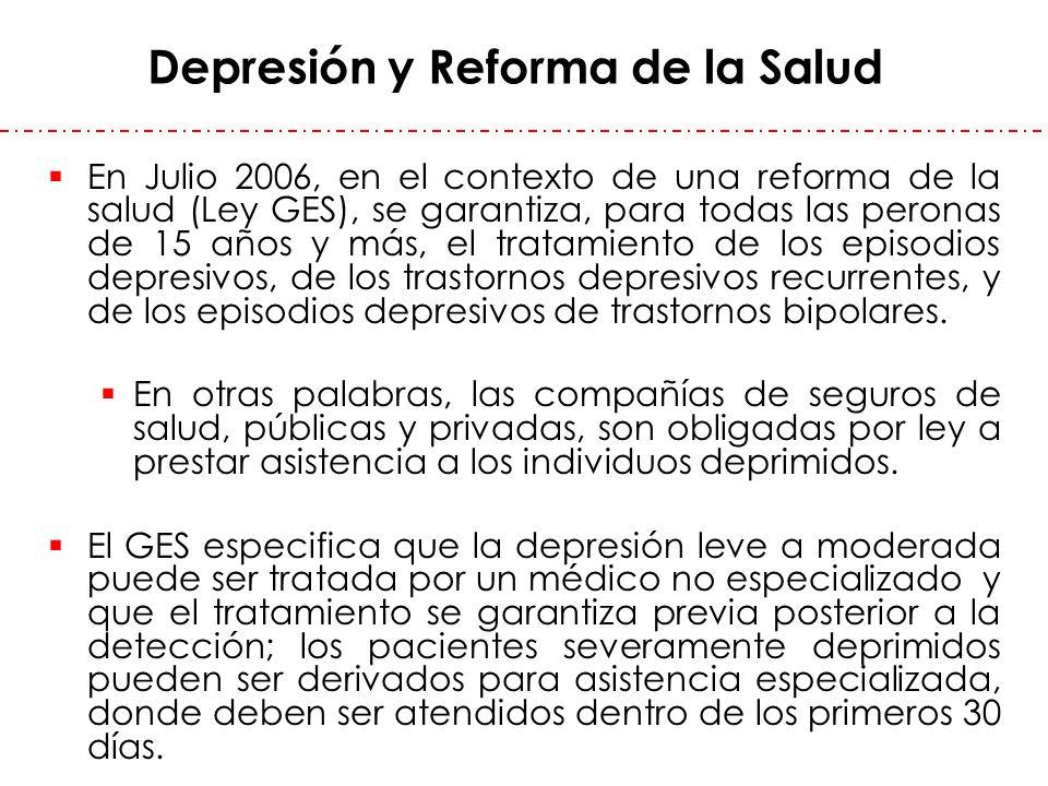 Depresión y Reforma de la Salud