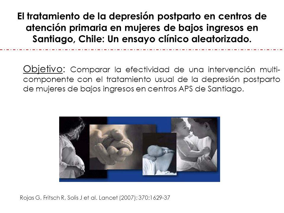 El tratamiento de la depresión postparto en centros de atención primaria en mujeres de bajos ingresos en Santiago, Chile: Un ensayo clínico aleatorizado.