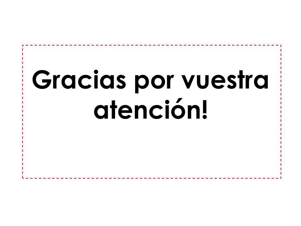 Gracias por vuestra atención!