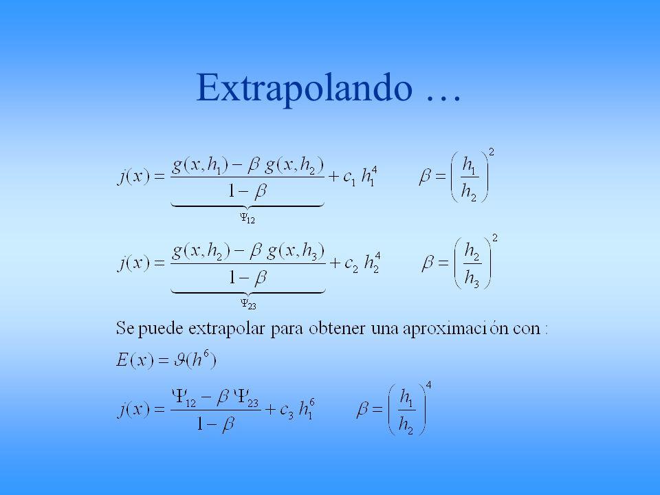 Extrapolando …
