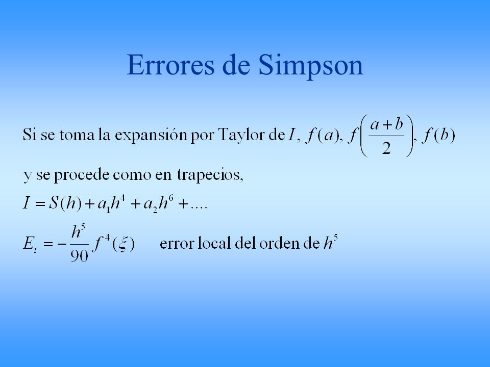 Errores de Simpson