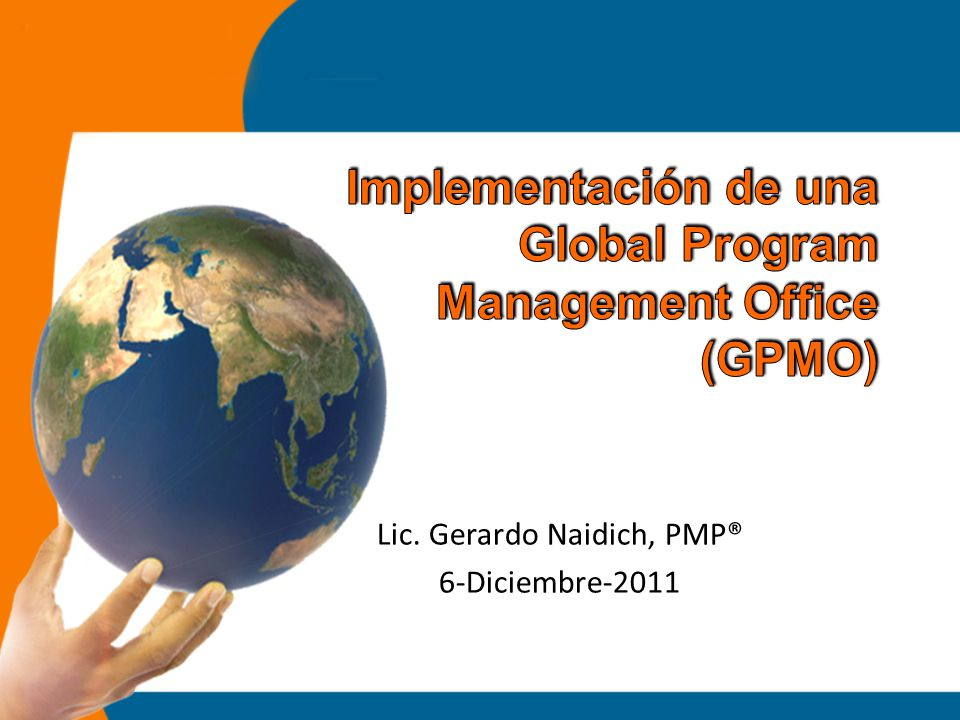 Implementación de una Global Program Management Office (GPMO)