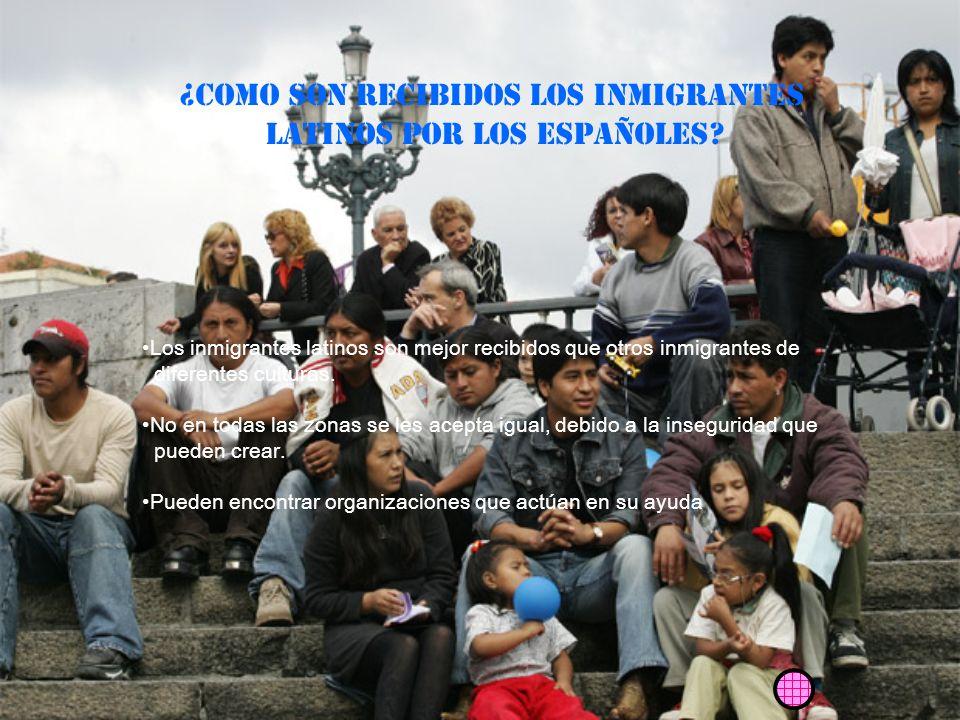 ¿COMO SON RECIBIDOS los inmigrantes Latinos POR LOS ESPAÑOLES
