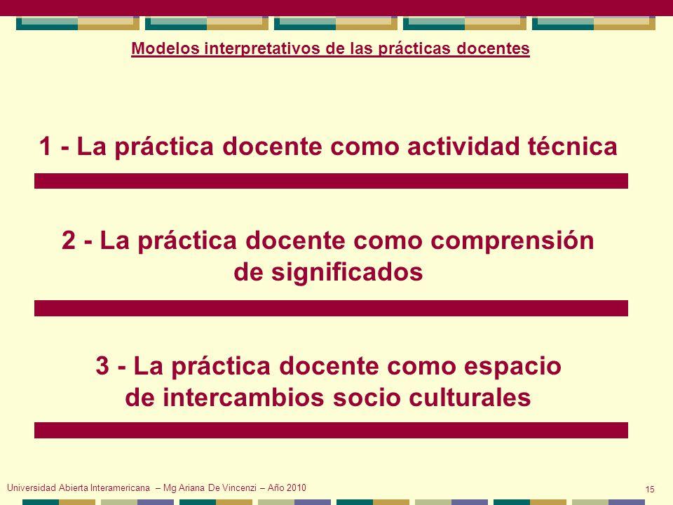 1 - La práctica docente como actividad técnica