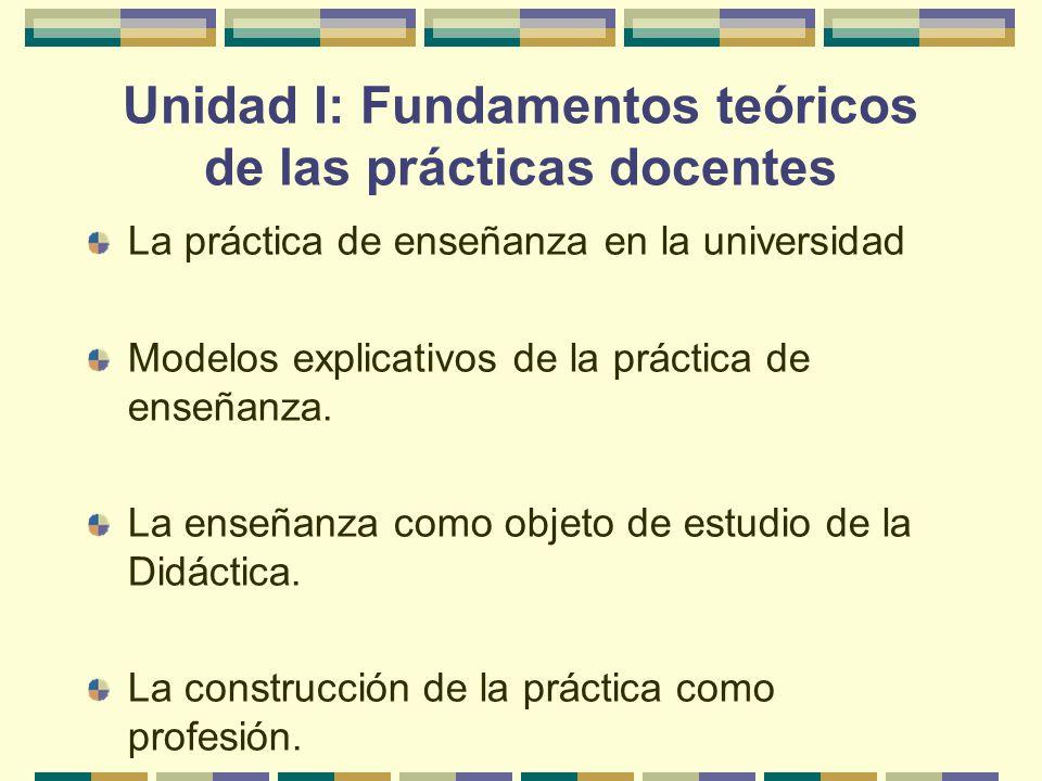Unidad I: Fundamentos teóricos de las prácticas docentes