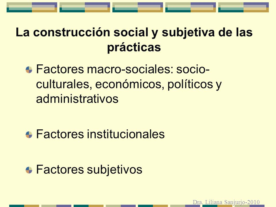 La construcción social y subjetiva de las prácticas