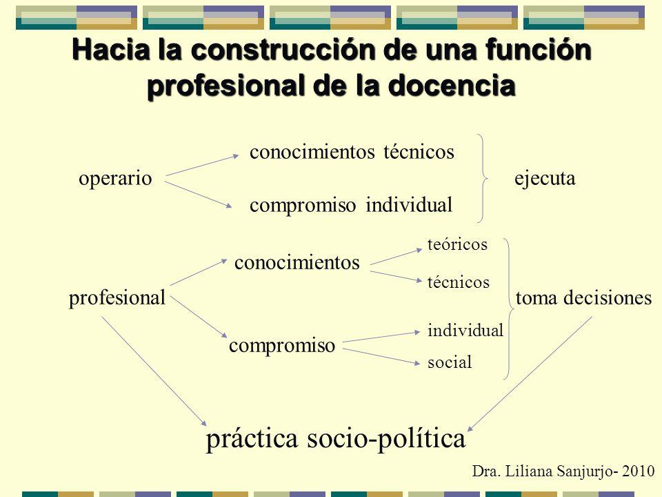 Hacia la construcción de una función profesional de la docencia