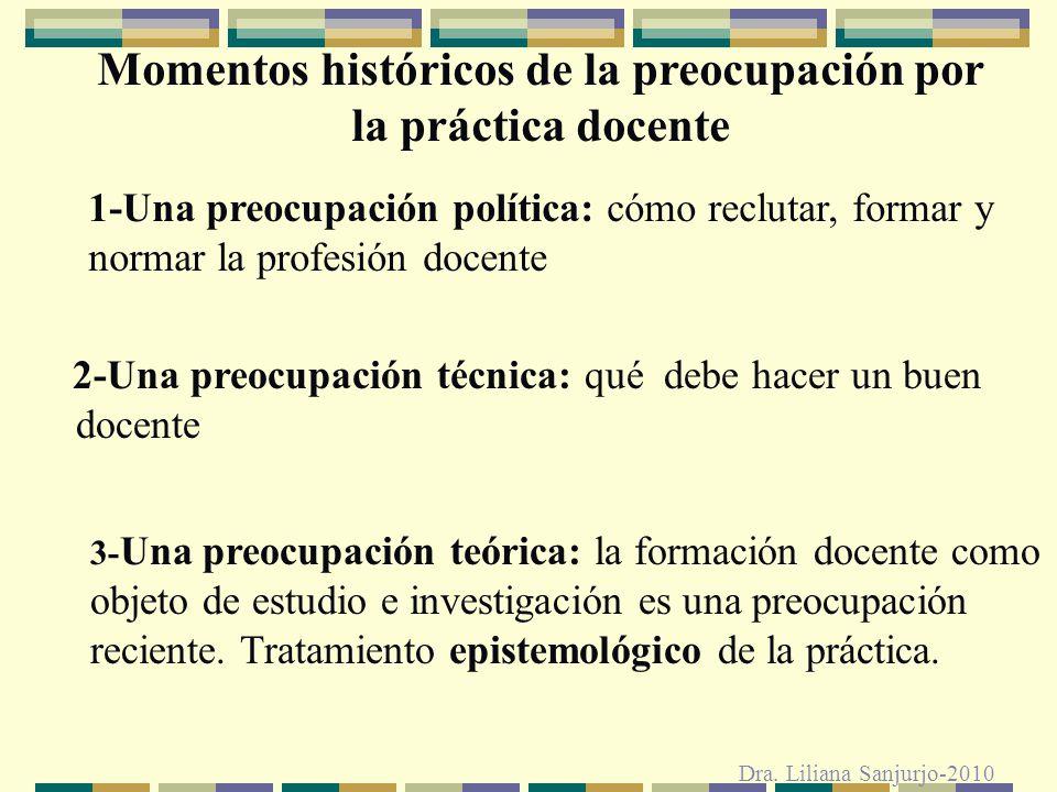Momentos históricos de la preocupación por la práctica docente
