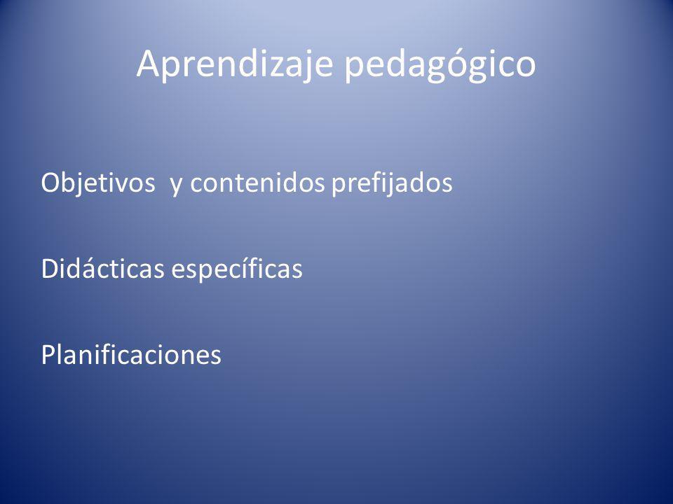 Aprendizaje pedagógico