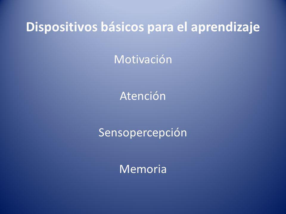 Dispositivos básicos para el aprendizaje
