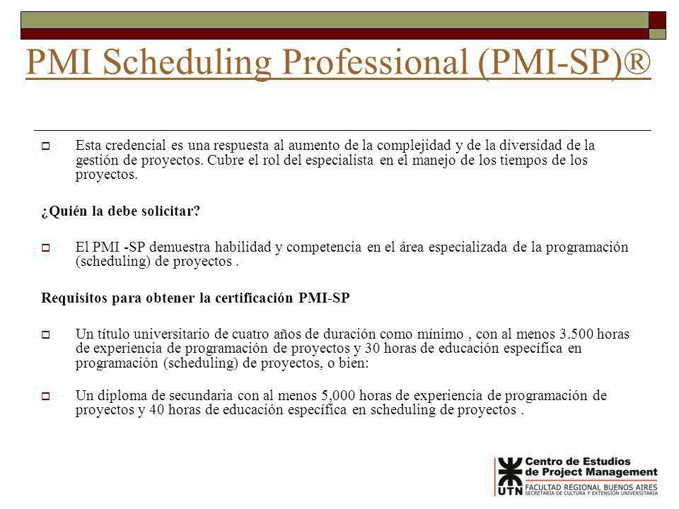 PMI Scheduling Professional (PMI-SP)®